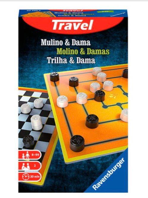 MOLINO Y DAMAS JUEGO DE VIAJE