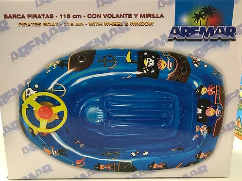 BARCA PIRATAS HINCHABLE 115 CM AREMAR