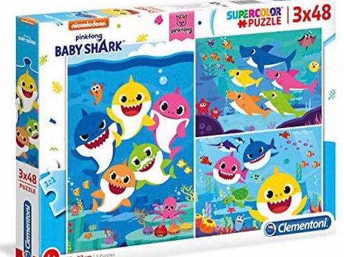 PUZZLE CLEMENTONI 3x48 BABY SHARK
