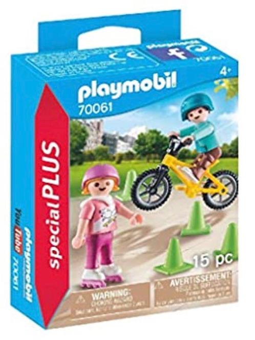 PLAYMOBIL 70061 NIÑOS CON BICI Y PATINES