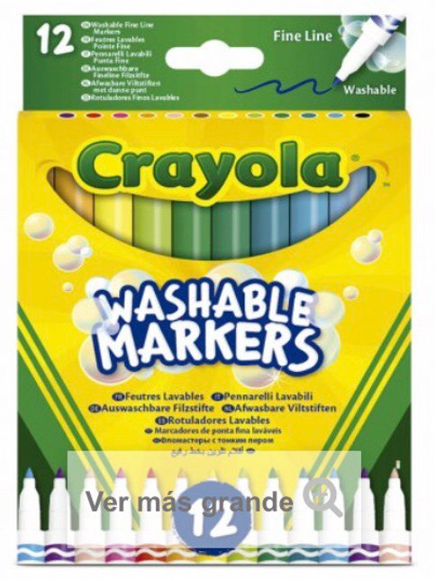 ROTULADORES LAVABLES CRAYOLA PACK 12