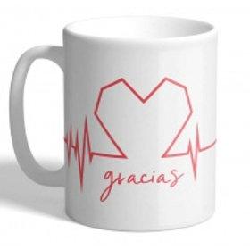 TAZA CERÁMICA GRACIAS HEART LINES