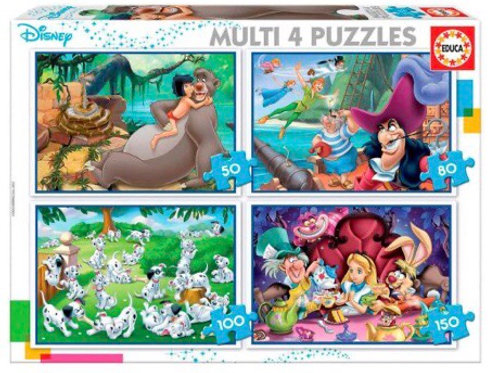 MULTI PUZZLE EDUCA DISNEY