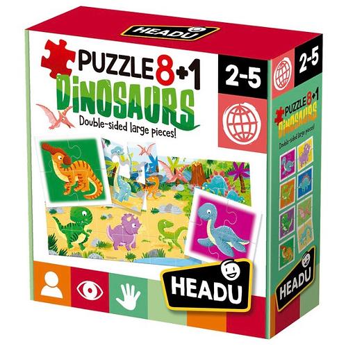 PUZZLE HEADU 8+1 DINOSAURIOS