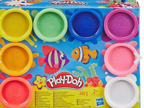 PLAY DOH PACK BOTES 8 COLORES