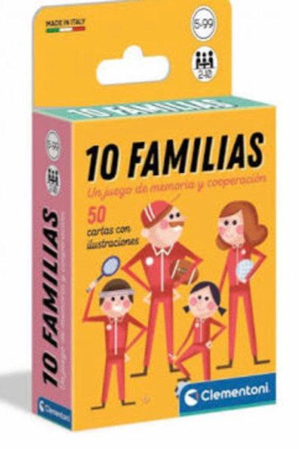 JUEGO CARTAS 10 FAMILIAS CLEMENTONI