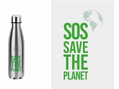 BOTELLA TERMO ACERO INOXIDABLE SAVE THE PLANET