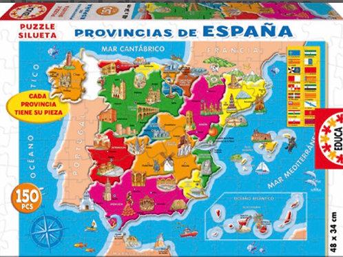 PUZZLE EDUCA 150 PZ PROVINCIAS DE ESPAÑA