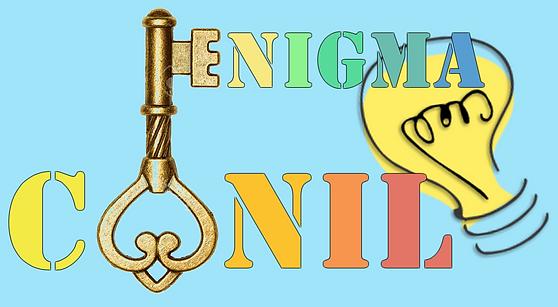 Enigma Conil Escape Room Cádiz Andalucía Ocio Diversión Original logo llave bombilla sala de escape escapismo eventos turismo