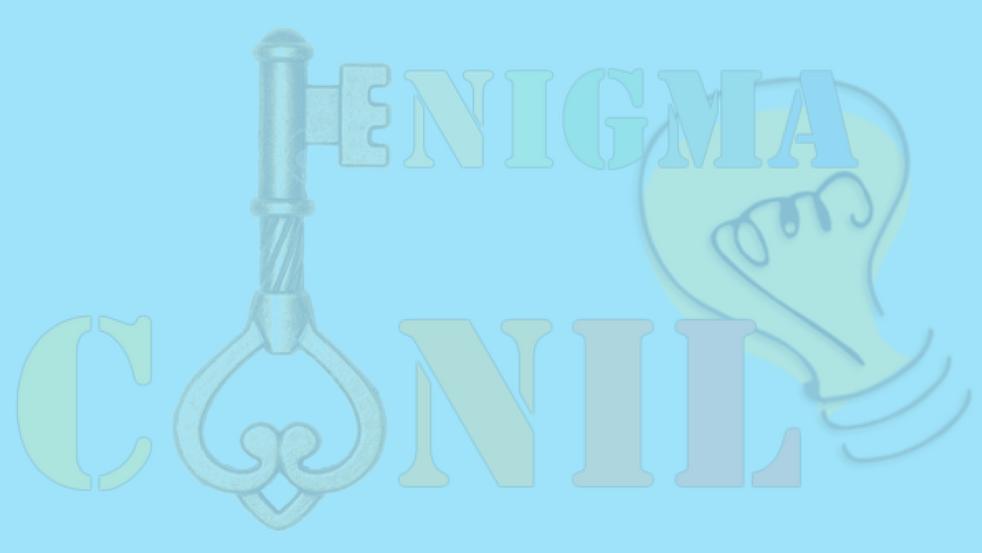 Logo Enigma Conil Escape Room en la provincia de Cádiz. Ocio, entretenimiento, diversión.