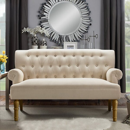 White & Gold Settee