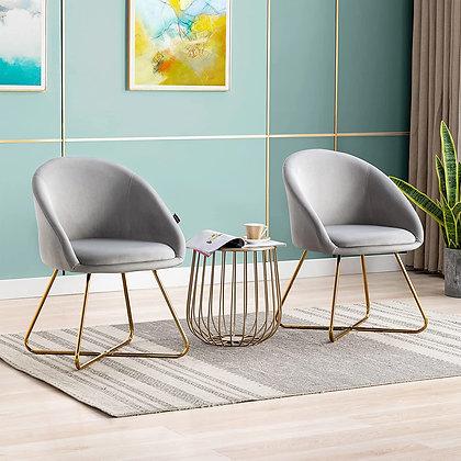 Silver Velvet Chair