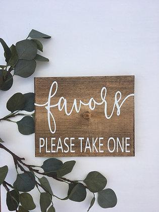 Wood Favor Sign
