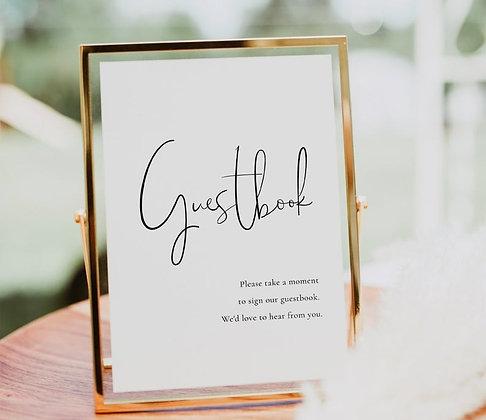 Golden Guest Book Sign