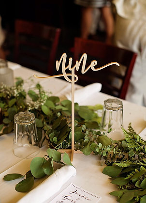 Stand Alone Gold Table Numbers