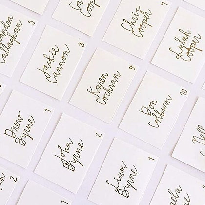Custom Handwritten Place Cards