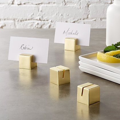 Gold Block Place Card Holder
