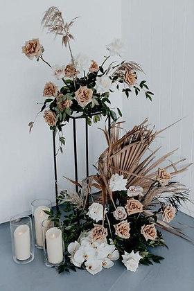 Black Floral Stand