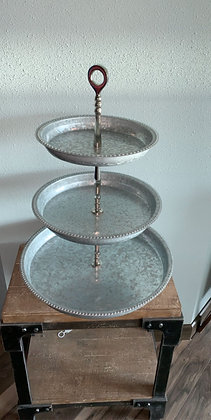 Galvanized Cake Stand XL