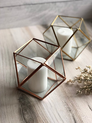 Geometric Votive Candle Holder