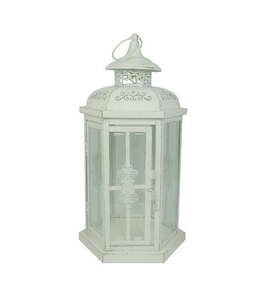 White Distressed Lantern