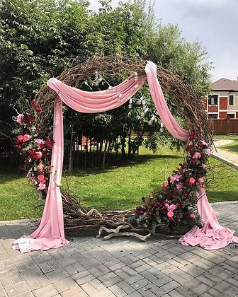 Grape Vine Arch with Mega Floral and Draping