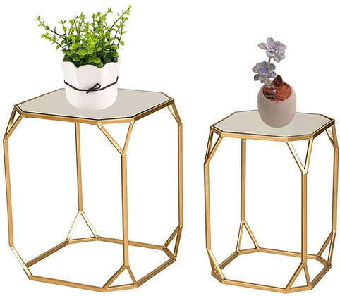 Gold & Mirror End Tables