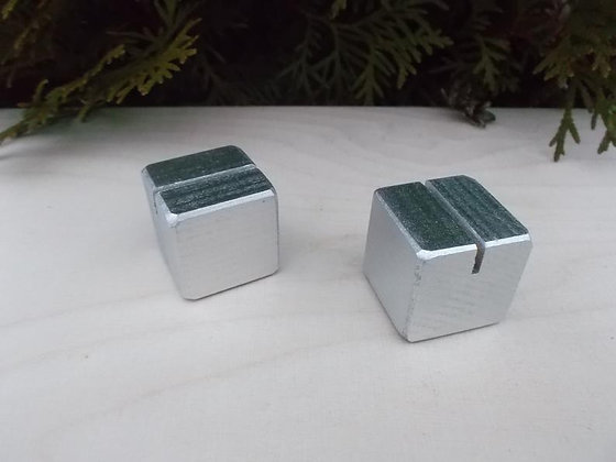Silver Block Place Card Holder