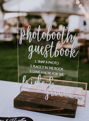 Photobooth Guest Book Acrylic Sign