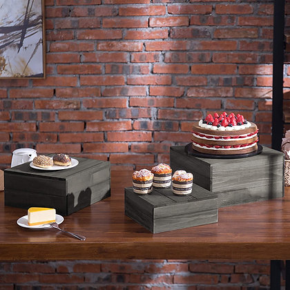Wood Dessert Stand Set