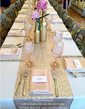 Sequin Table Runner Gold