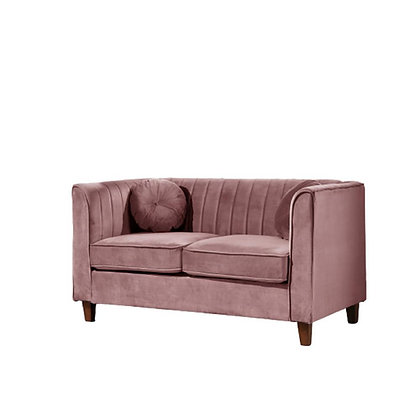 Dusty Rose Velvet Settee