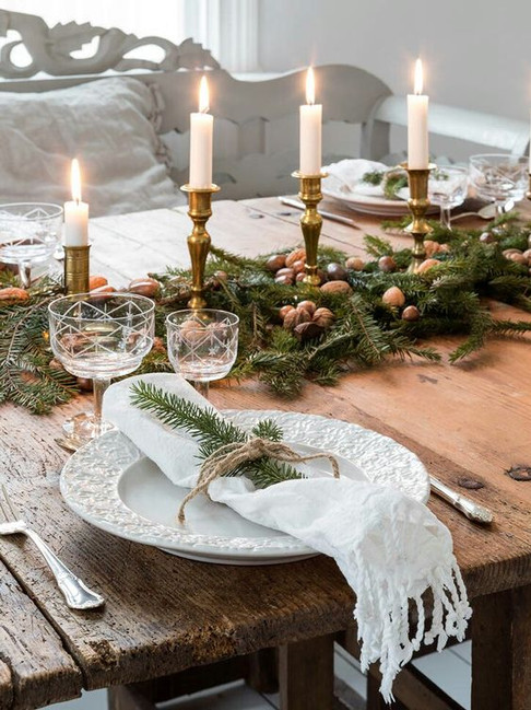 Just-line-up-candles-with-Greenaries-for