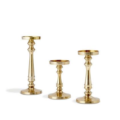 Gold Pillar Candle Holder