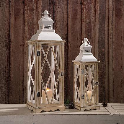 Large White Lantern Set