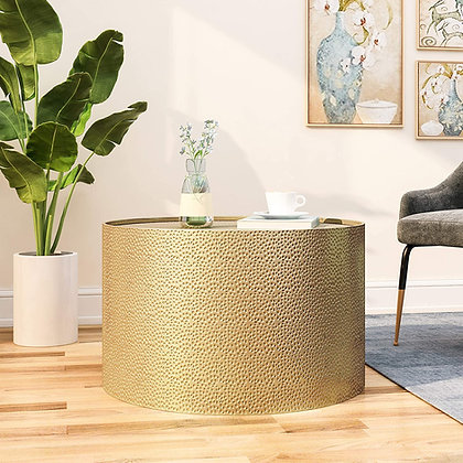 Hammered Gold Coffee Table