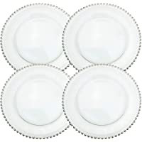 Clear Acrylic Silver Rim Chargers