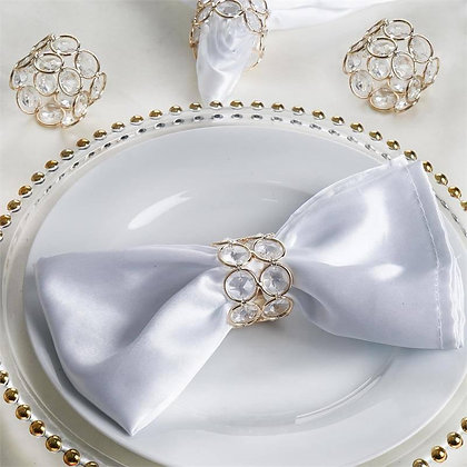 Gold & Crystal Napkin Ring