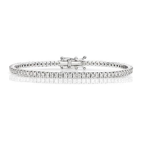 18k WHITE GOLD 2.22ct DIAMOND BRACELET