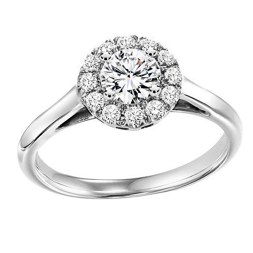 Diamond Ring With Diamond  Halo 0.49ct to 1.25ct