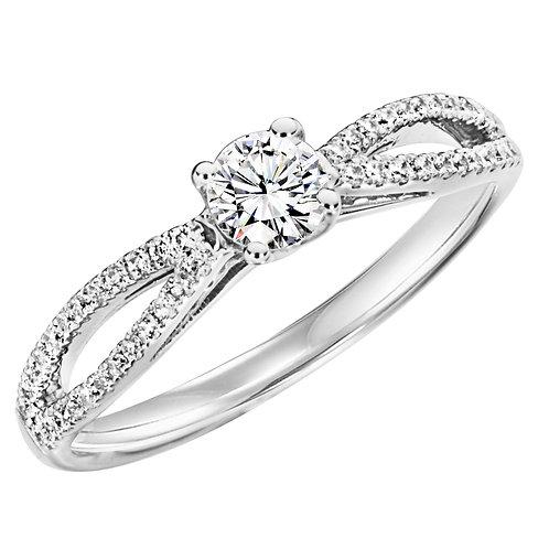 Diamond Ring With Diamond Set Split Shoulders 0.42ct to 0.87ct