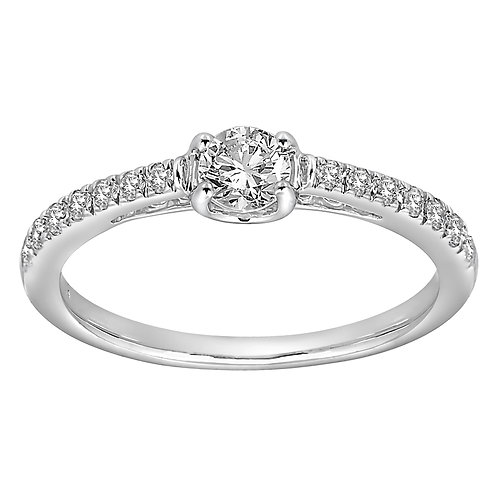 Diamond Ring With Diamond Shoulders 0.50ct to0.95ct