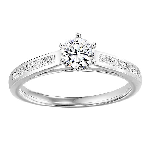 Diamond Ring With Diamond  Shoulders 0.50ct to 1.25ct