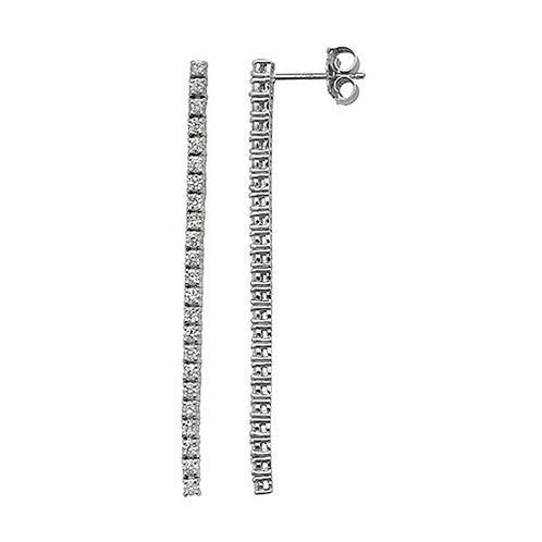 DIAMOND DROP EARRINGS 18K W/G GH/SI2 1.11CT