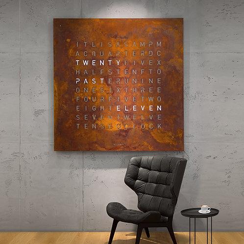 QLOCKTWO 180 Creators Edition Rust Wall Clock 180cm