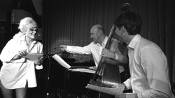 In rehearsal with my musicians