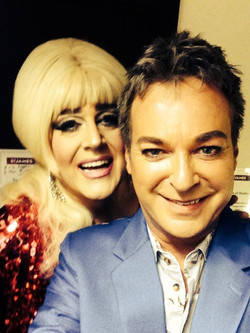 With Julian Clary