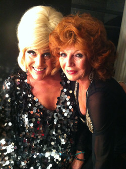 With divine Rula Lenska backstage when s