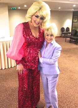 With Barbara Windsor