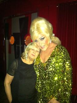 With Ann Mitchell